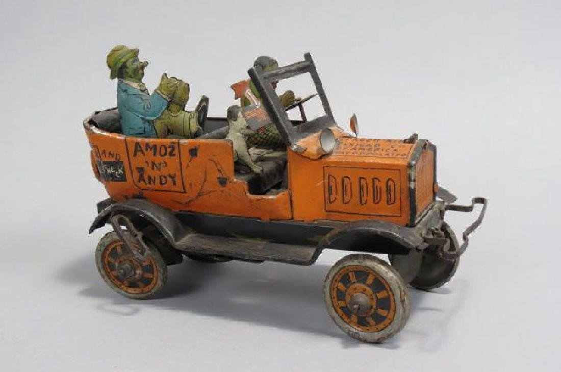 "Marx ""Amos & Andy"" Tin Toy Wind-up Car,"