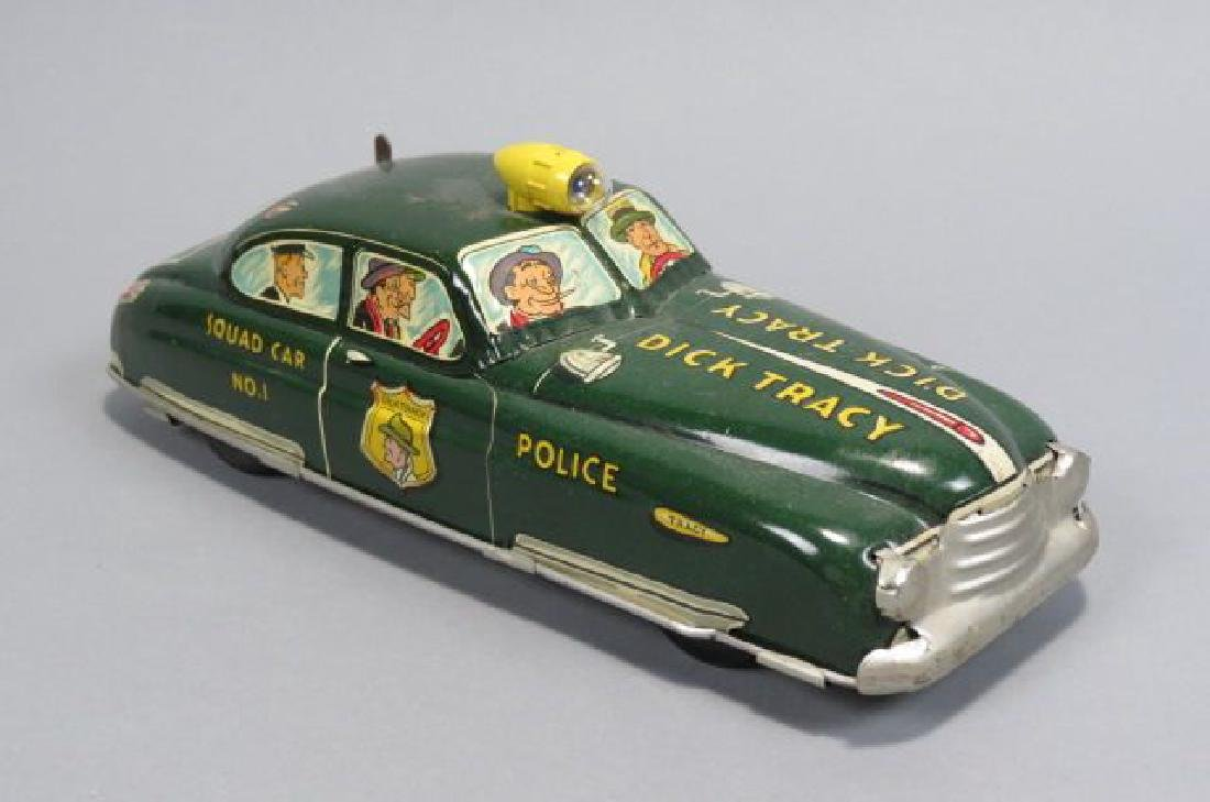 Marx Dick Tracy Tin Wind-up Toy Car,