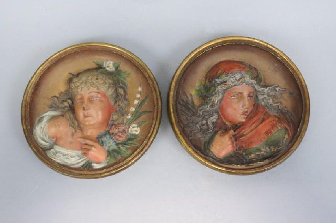 Pair of Bradley & Hubbard Flue Cover Wall Plaques,