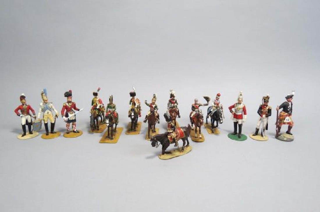 14 Lead Miniature Soldier Figurines by Britain