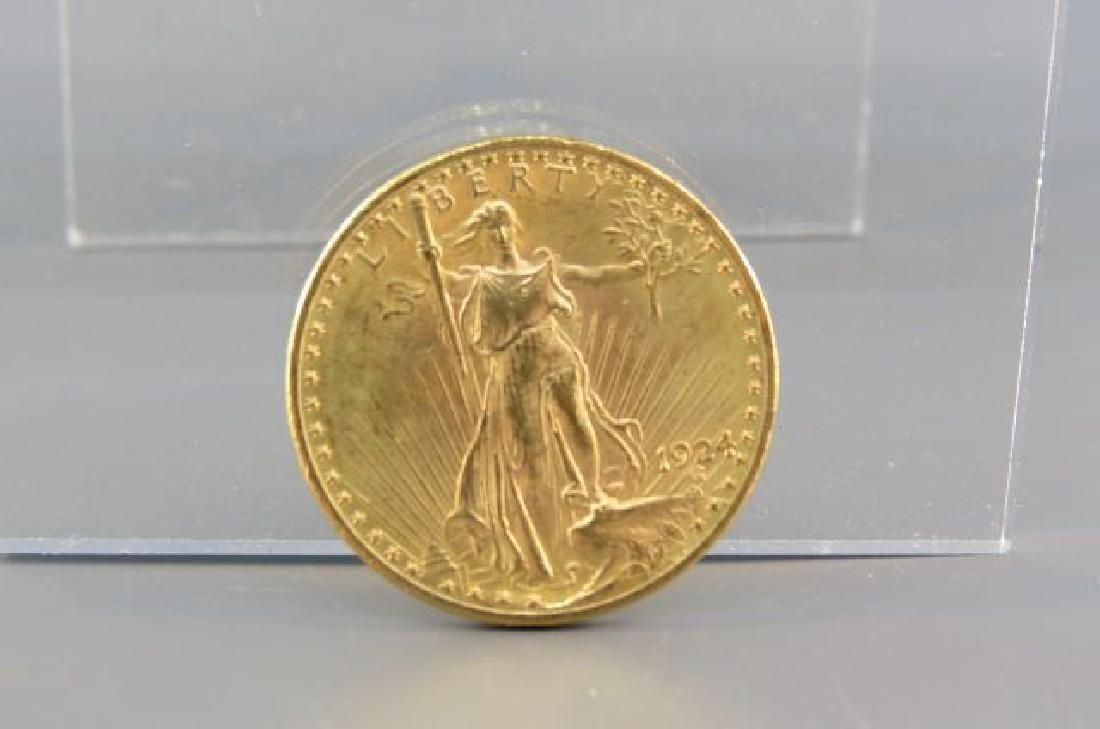 1924 U.S. $20.00 St. Gauden's Gold Coin,
