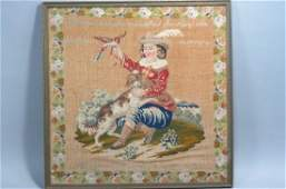 19th Century Sampler with Pictorial & Verse,
