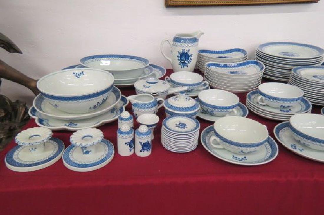 "131 pcs. Royal Copenhagen ""Tranquebar Blue"""