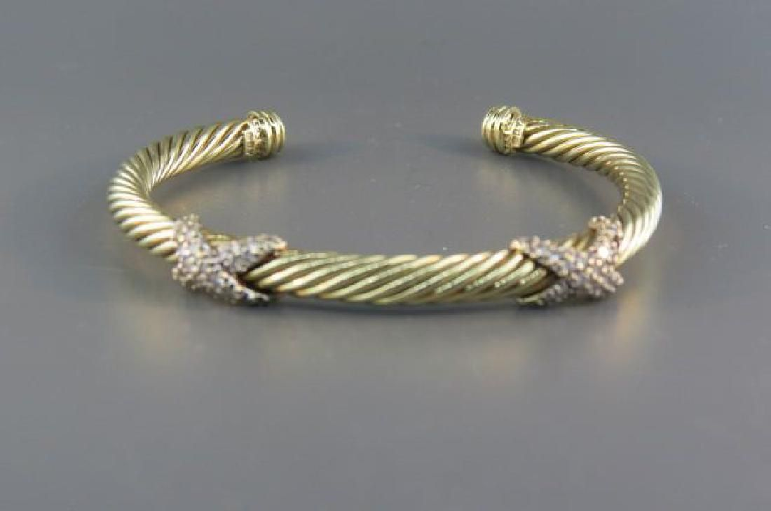 David Yurman Diamond 14k Bracelet,