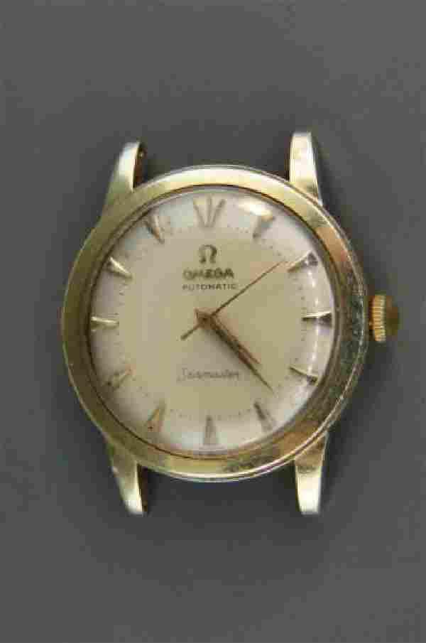 """Omega Man's """"Seamaster"""" 14K Gold Wristwatch,"""