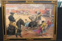"Roberto Domingo Y Fallola, oil, ""Bull Fighter"""
