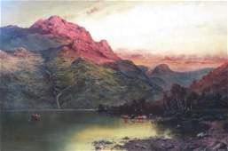 19th Century Oil Painting, Scottish landscape