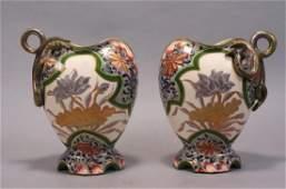 Pair of Handpainted Porcelain Vases,