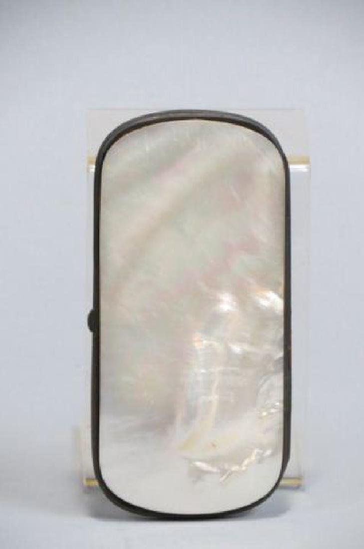 Victorian Carved Mother-of-Pearl Eye Glass Case, - 3
