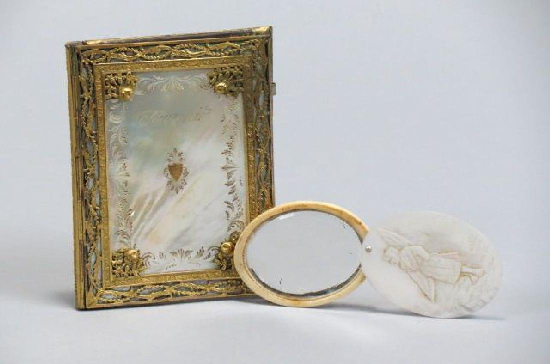 2 Victorian Mother-of-Pearl Items.