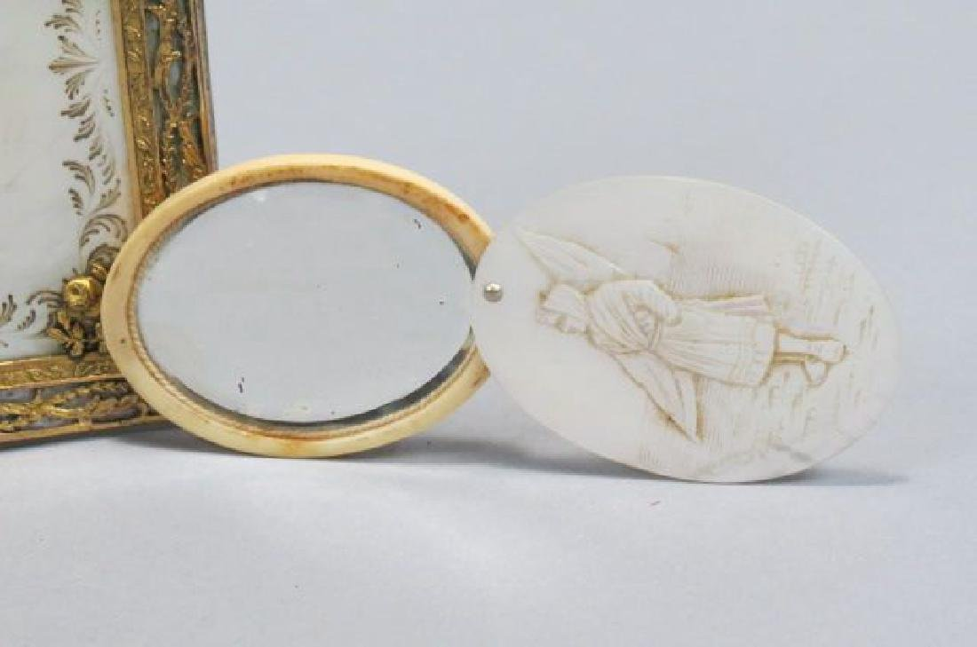 2 Victorian Mother-of-Pearl Items. - 2