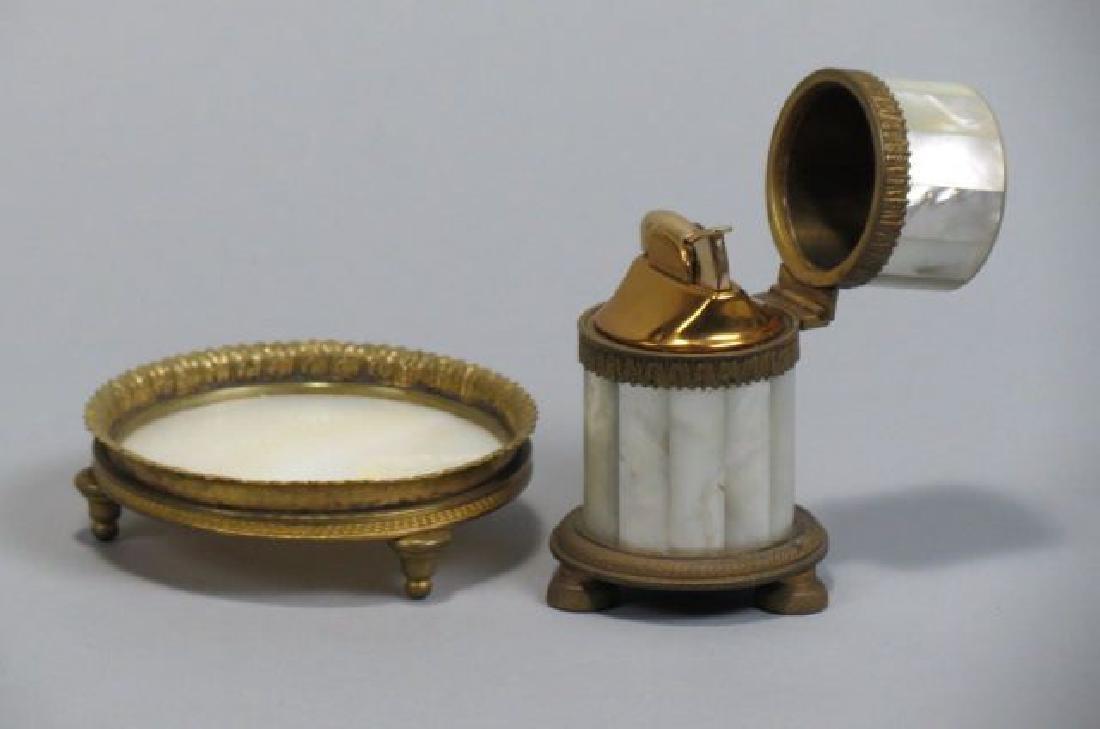 2 Mother-of-Pearl & Bronze Ormolu Items;