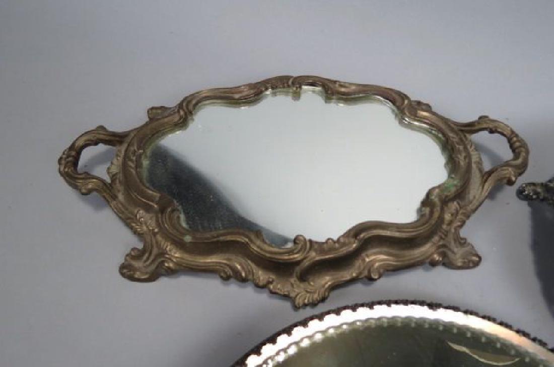 3 Mirrored Dresser Plateaus, - 3