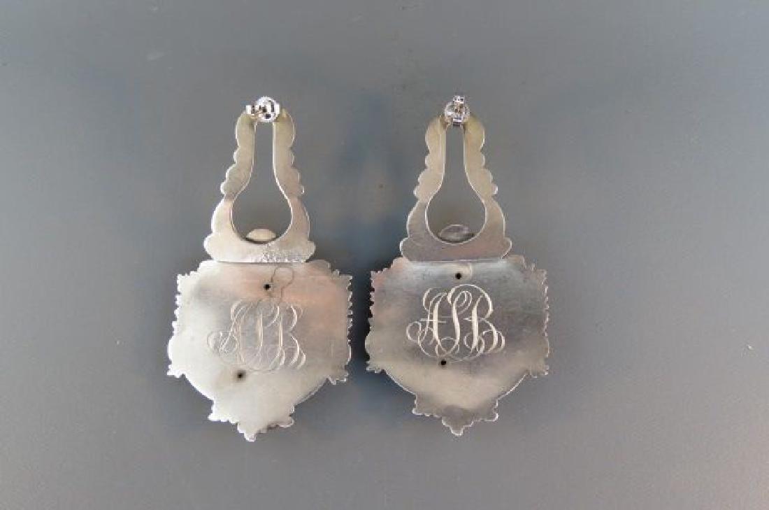 Victorian Art Nouveau Sterling Cherub Earrings, - 2