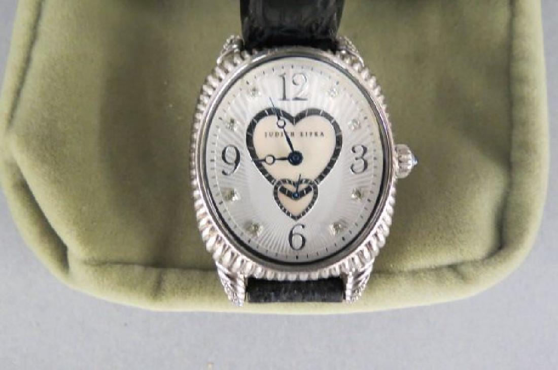 Judith Ripka Sterling Silver Ladies Wristwatch,