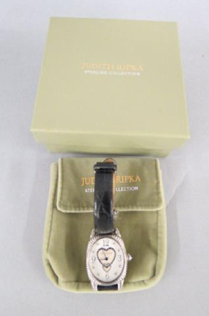 Judith Ripka Sterling Silver Ladies Wristwatch, - 2