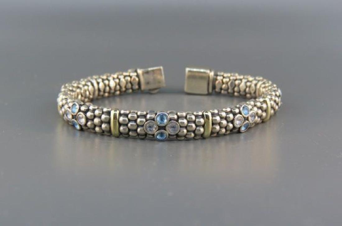 Caviar 18K Gold & Sterling Gem Set Bracelet,