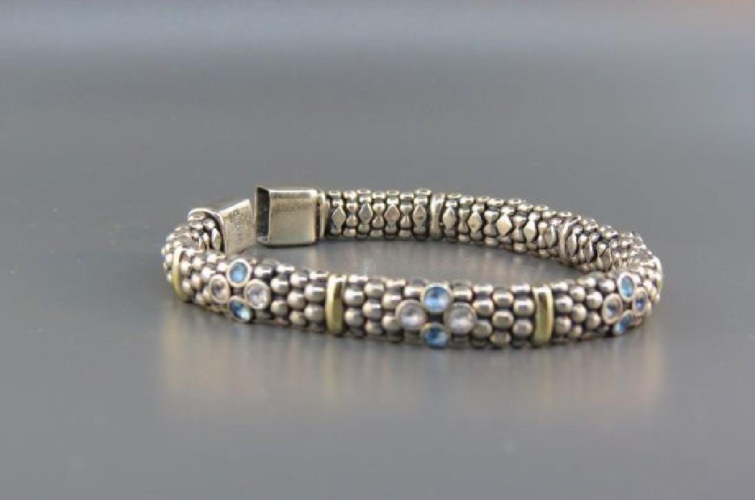 Caviar 18K Gold & Sterling Gem Set Bracelet, - 2