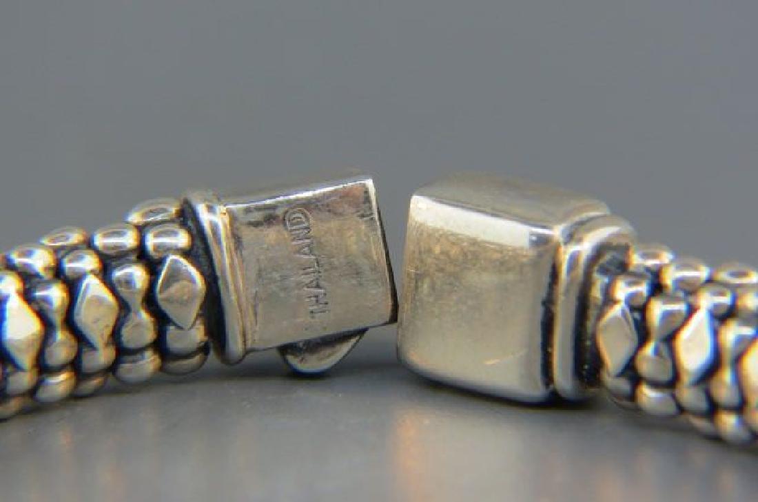 Caviar 18K Gold & Sterling Gem Set Bracelet, - 3
