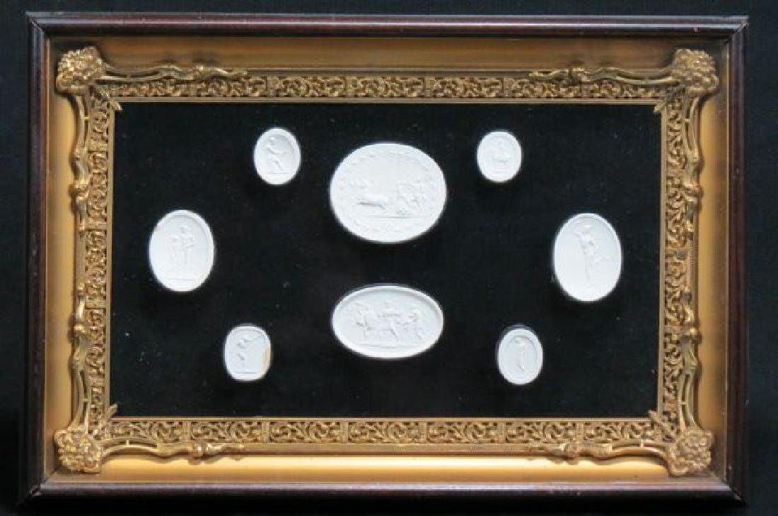 Group of Grand Tour Intaglio Plaster Medallions,