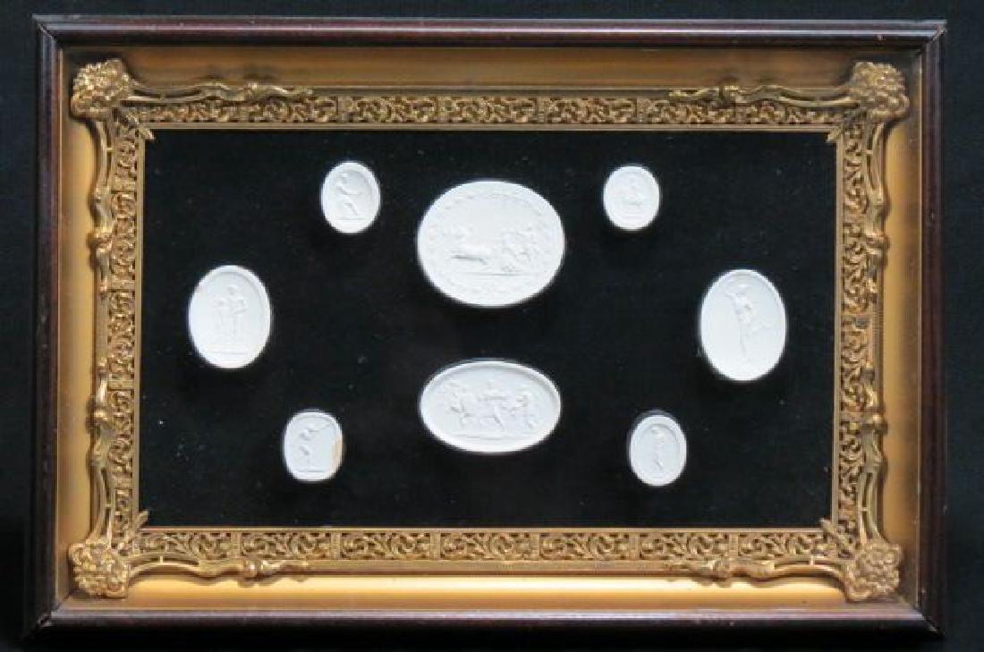 Group of Grand Tour Intaglio Plaster Medallions,