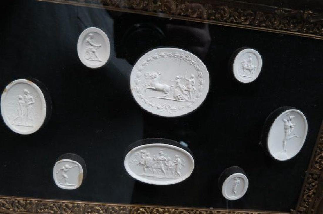 Group of Grand Tour Intaglio Plaster Medallions, - 2