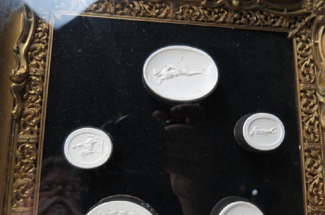 Group of Grand Tour Intaglio Plaster Medallions, - 3