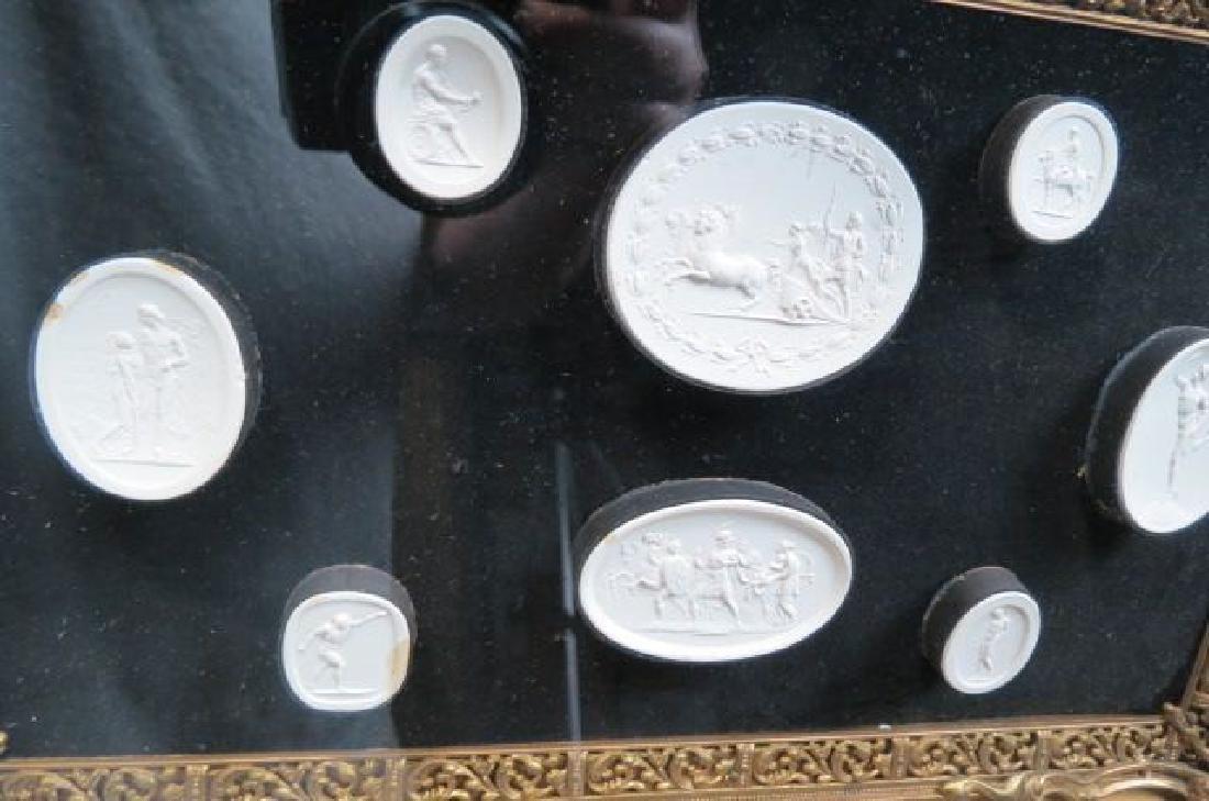 Group of Grand Tour Intaglio Plaster Medallions, - 4