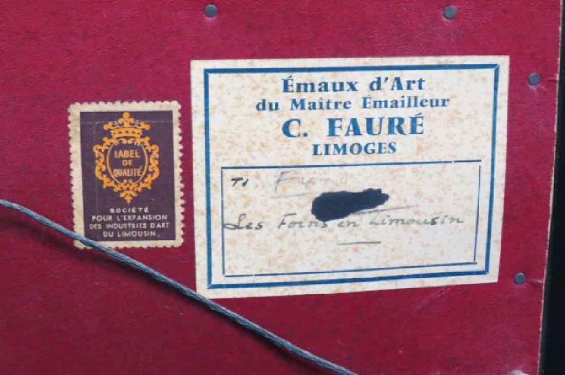 Camille Faure Limoges Enamel Plaque of Hay Harvest - 4
