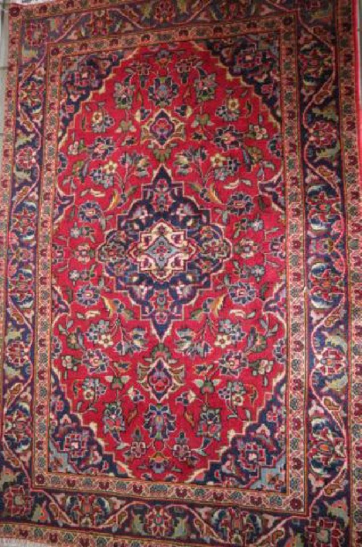 Kashan Persian Handmade Rug, - 3