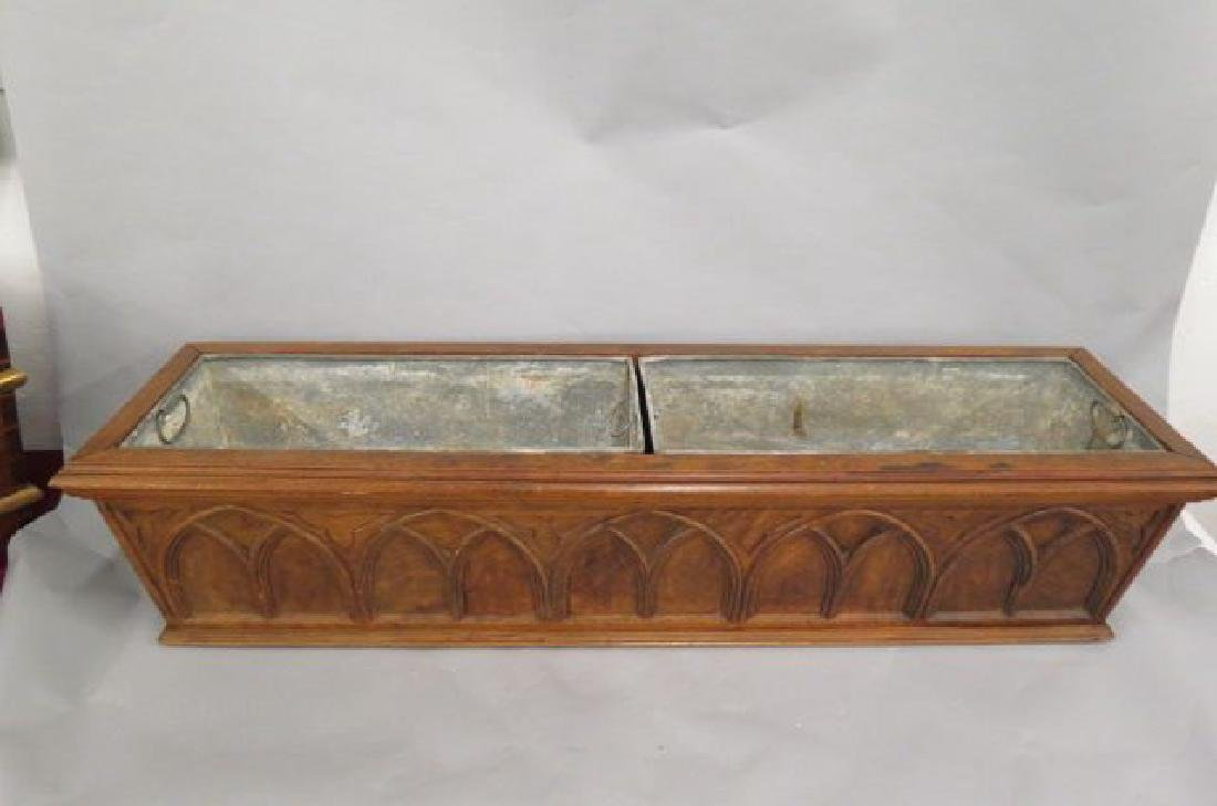 French Carved Wood Planter,