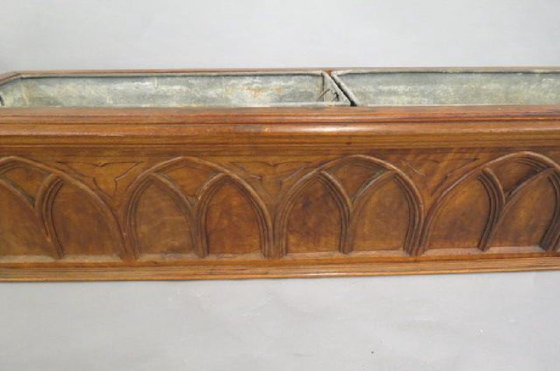 French Carved Wood Planter, - 2