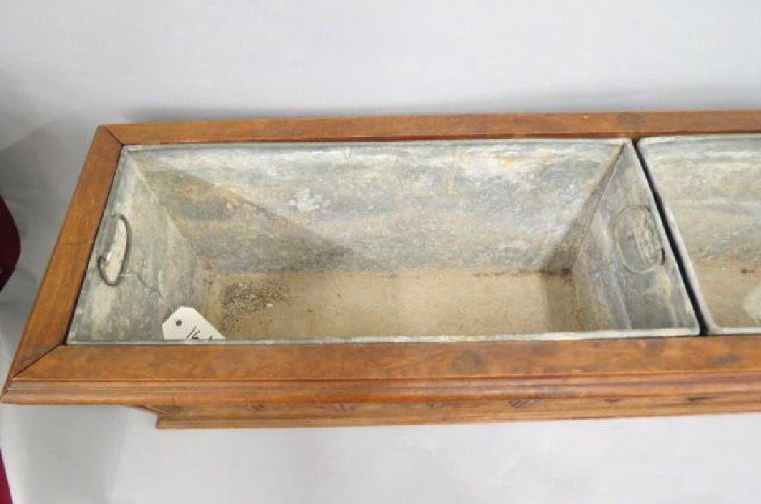 French Carved Wood Planter, - 3