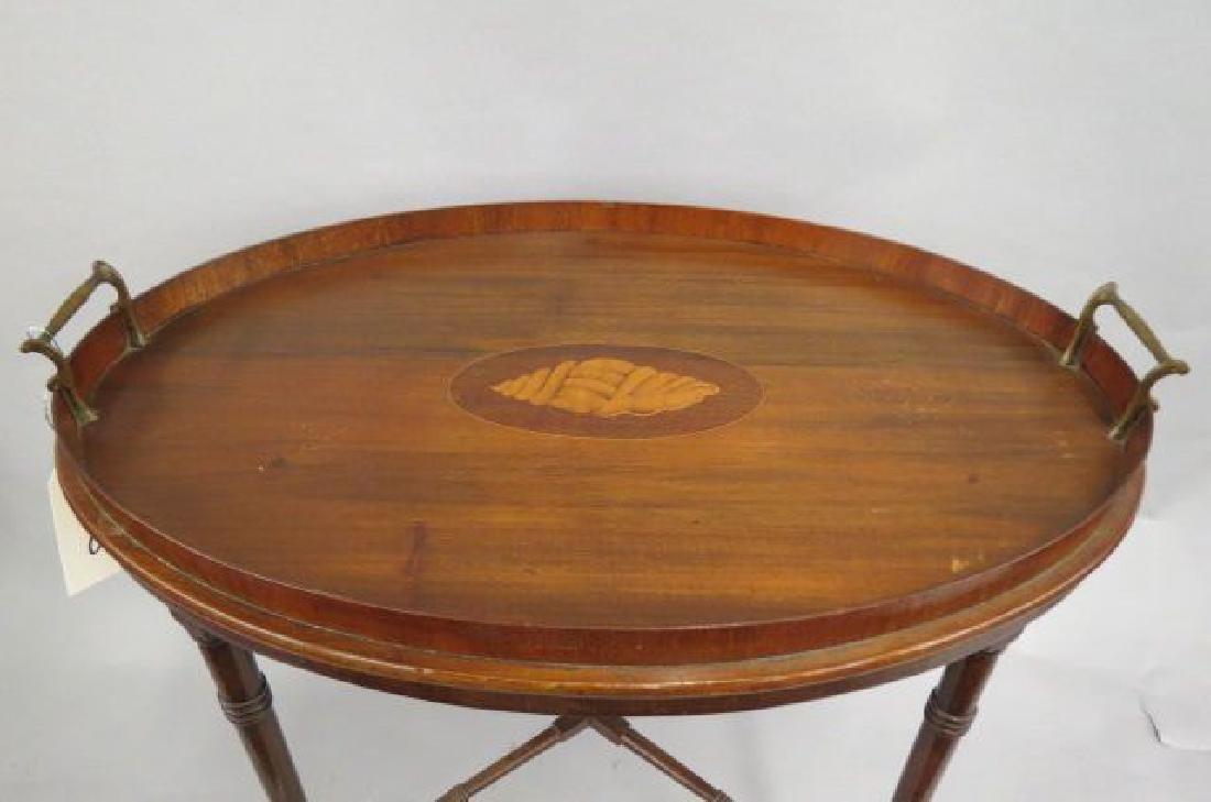 Fine English Mahogany Tray Table, - 2