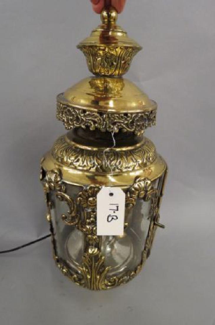 Brass Gas Wall Lantern, ornate French style decor