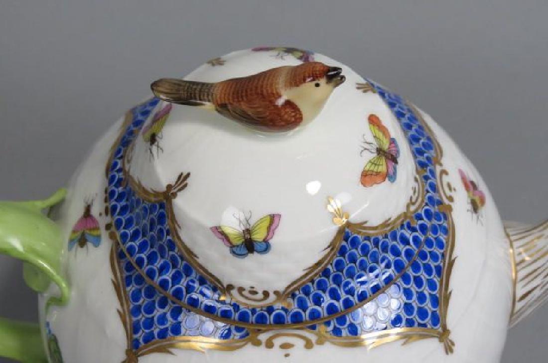"Herend Porcelain ""Rothschild Bird"" Tea/Coffee Set - 3"