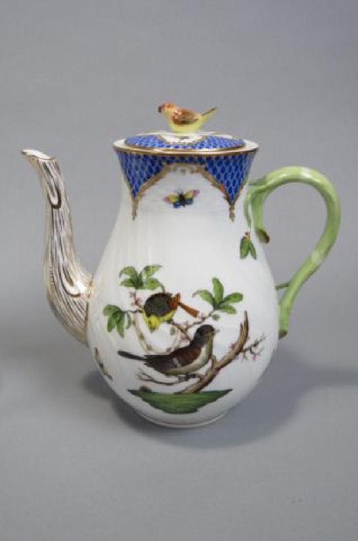 "Herend Porcelain ""Rothschild Bird"" Tea/Coffee Set - 4"