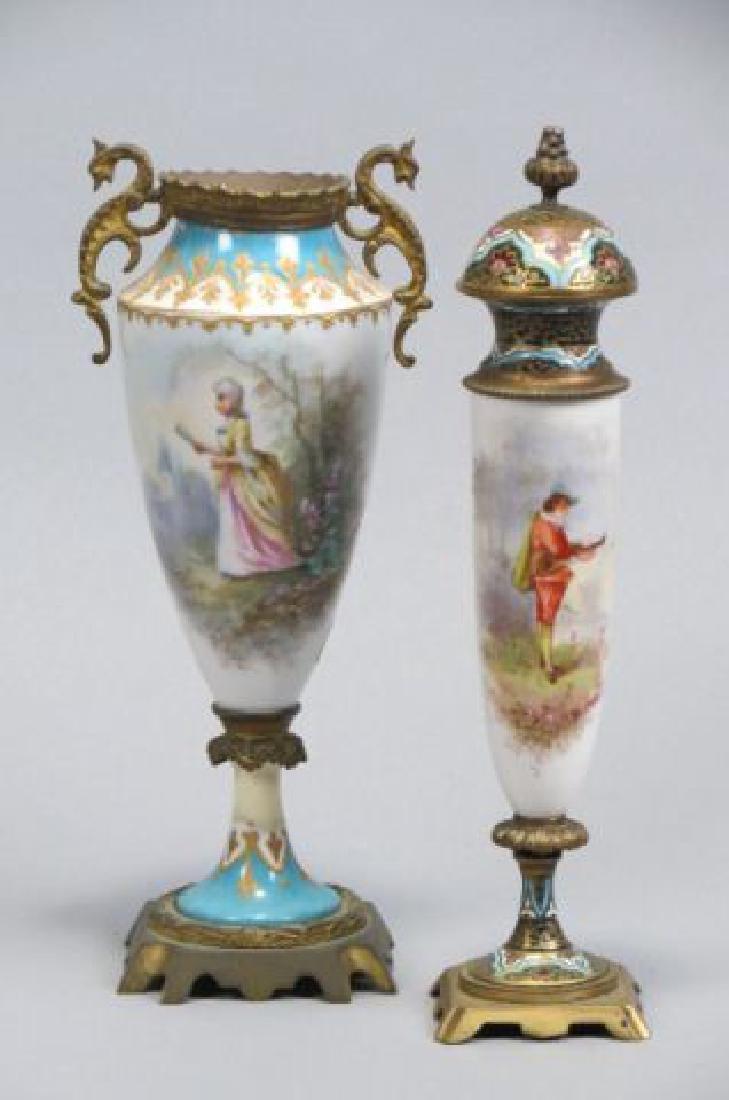 2 Sevres French Porcelain Vases or Urns,