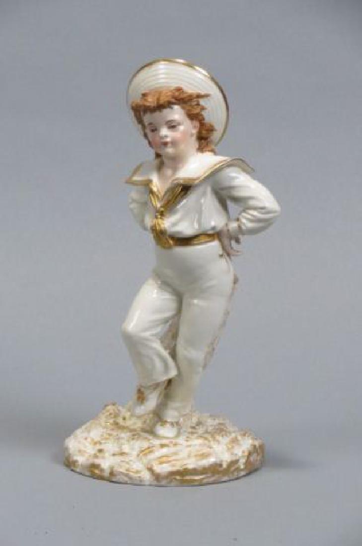 Royal Worcester Porcelain Figural Vase,