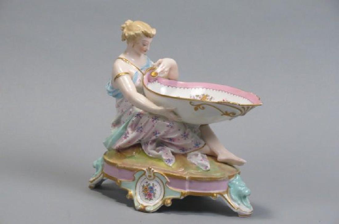 Fine Porcelain Figural Sweetmeat Dish,