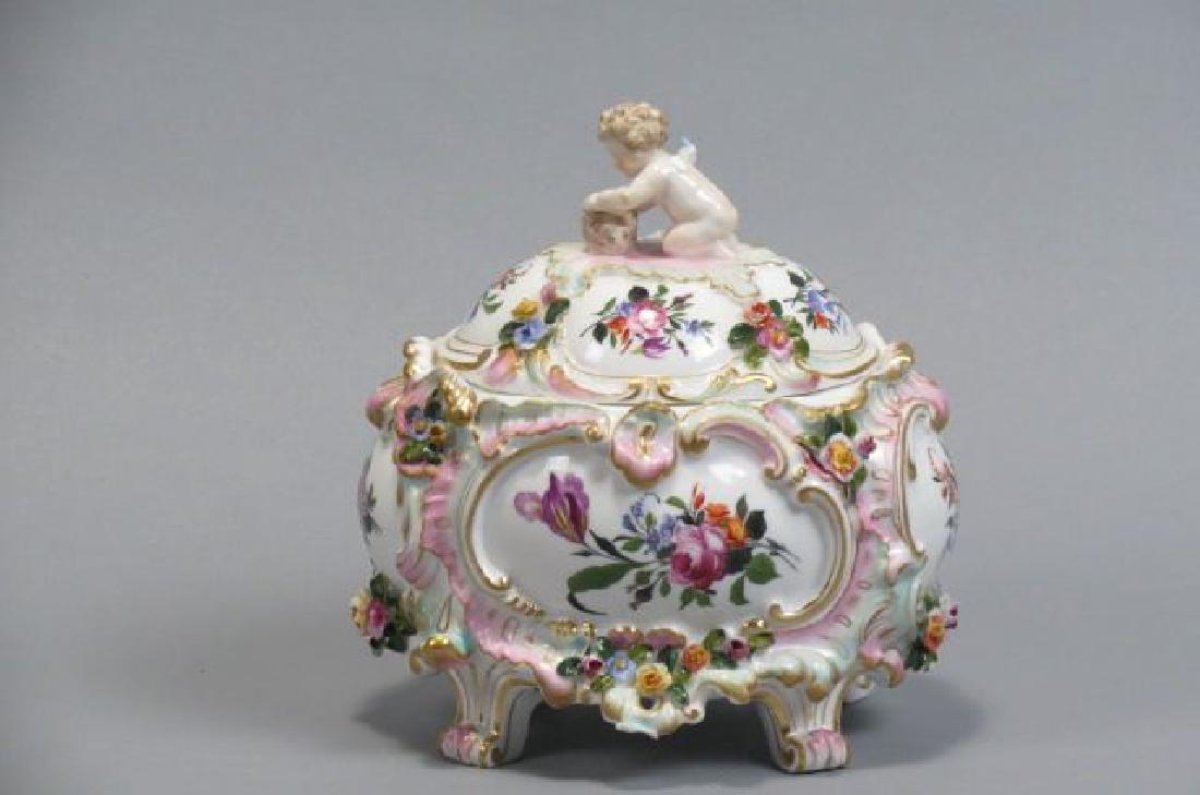 Meissen Porcelain Covered Box,