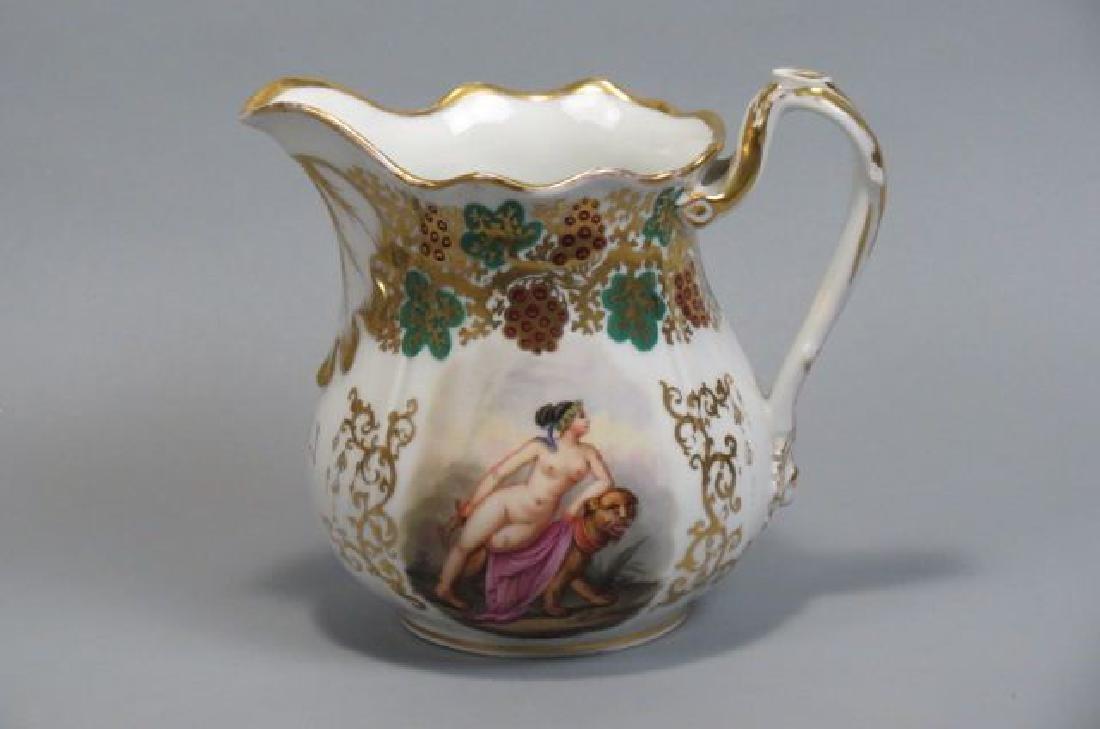 Unusual Old Paris Style Porcelain Vase,
