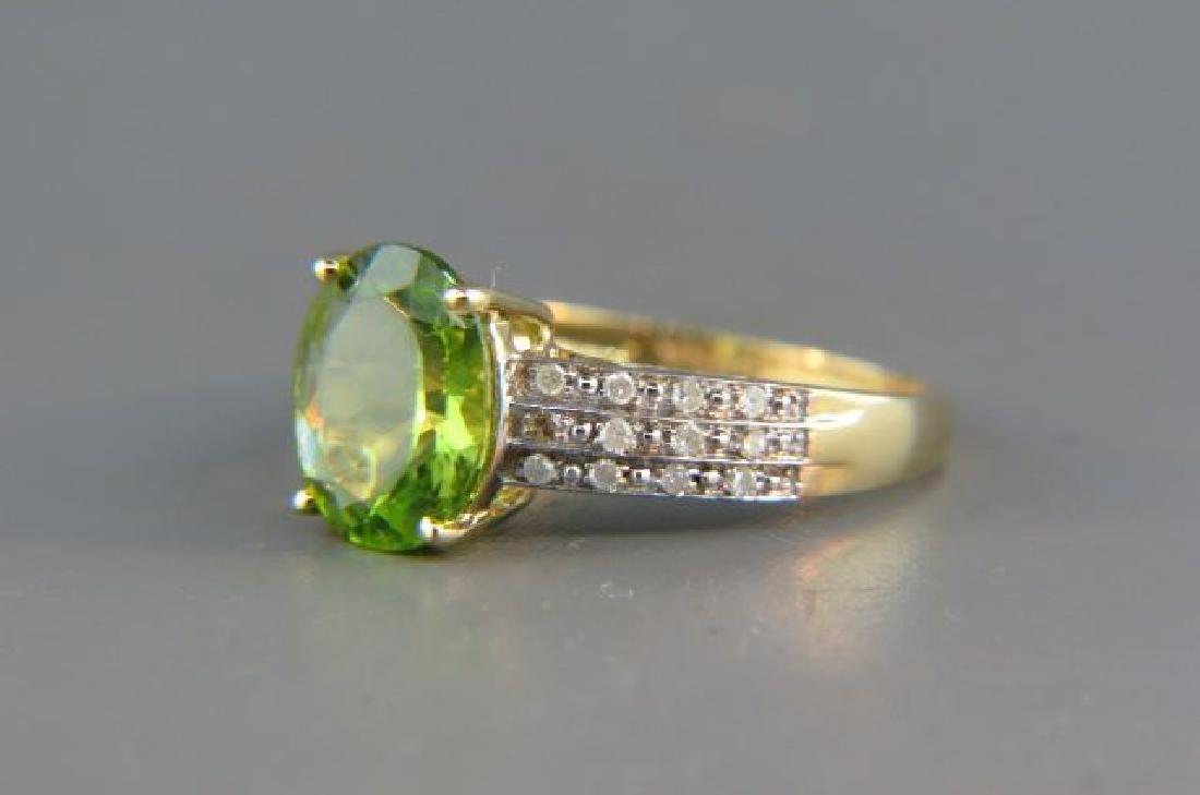 Peridot & Diamond Ring,