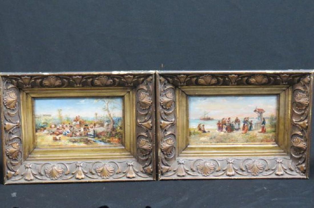 Pair of Antique Miniature Paintings,