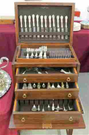 """112 pc. Reed & Barton """"Francis I"""" Sterling Silver"""