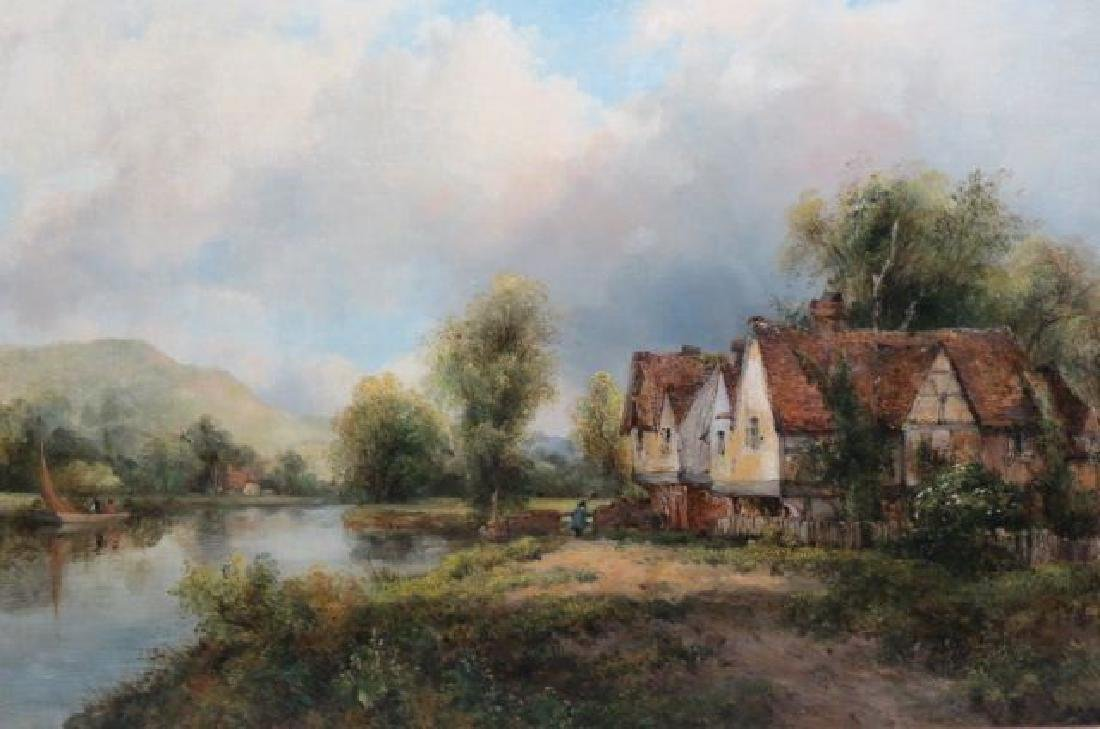 "Frederick W. Watts, oil, "" A View in Dedham"" - 2"