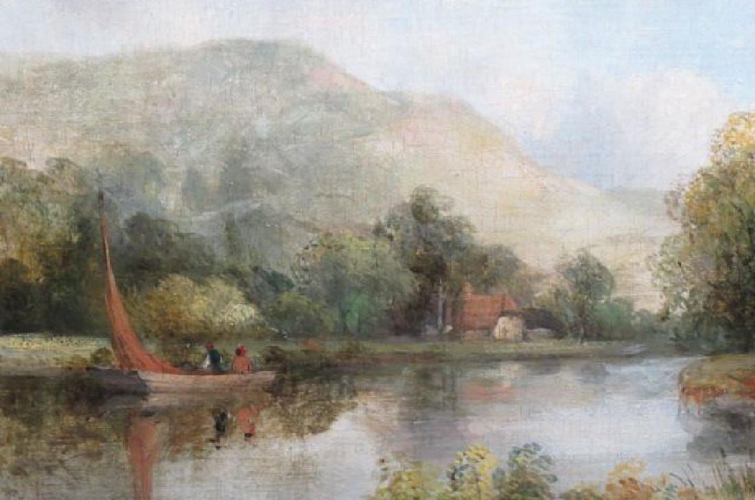 "Frederick W. Watts, oil, "" A View in Dedham"" - 3"