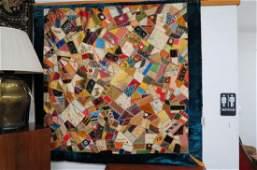 Fine Late 19th Century Crazy Quilt,
