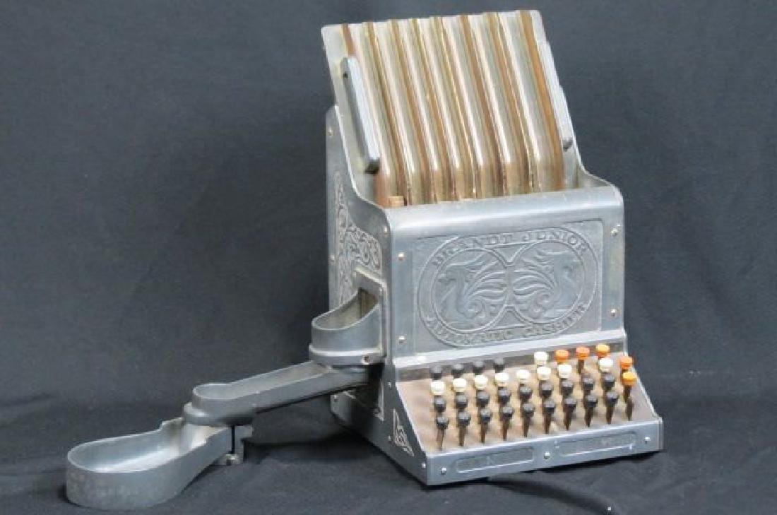 """Antique """"Brandt Junior Automatic Cashier"""","""