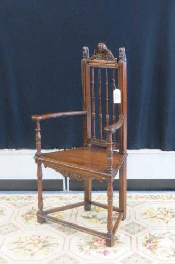 19th Century Carved Arm Chair,